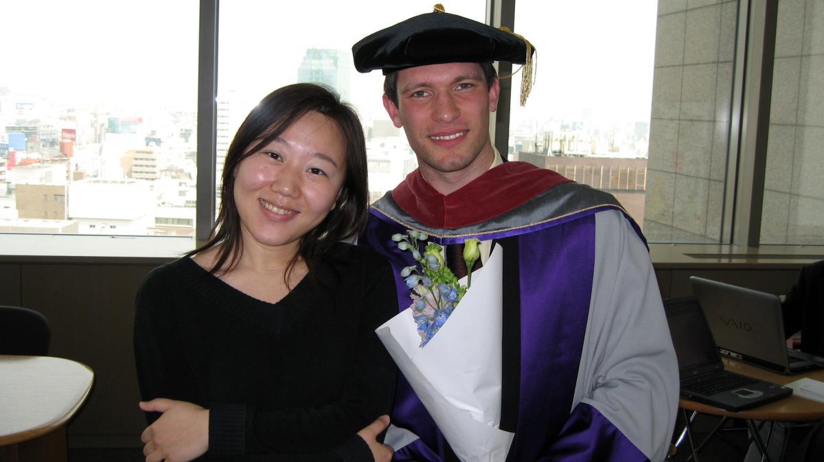 Graduation: me with Luna